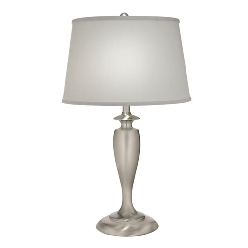 Satin Nickel 27-Inch One-Light Table Lamp