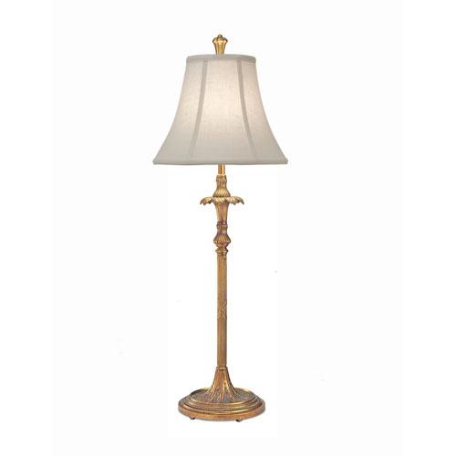 Polished Honey Brass One-Light Buffet Lamp with Cream Aberdeen Softback Shade