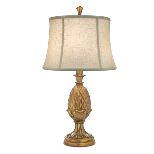Polished Honey Brass One-Light Table Lamp with Cream Aberdeen Softback Shade