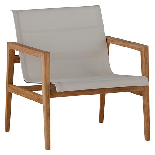 Summer Classics Coast Ivory Teak Lounge Chair