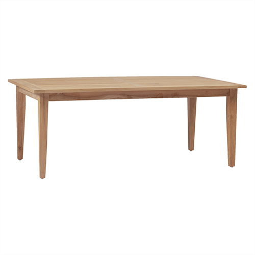 Croquet Teak Ivory Rectangular Farm Table