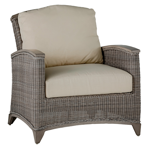 Astoria Oyster Lounge Chair with Linen Dove Cushion