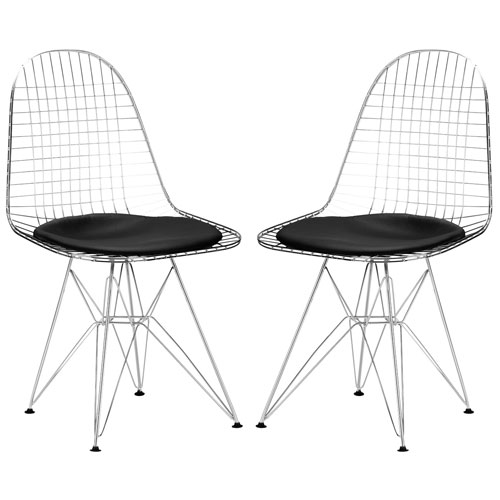 251 First Nicollet Black Side Chair, Set of Two