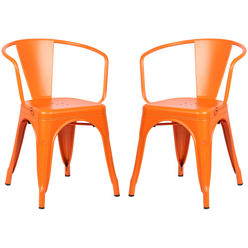 River Station Natural Industrial Kitchen Cart 251 First: 251 First River Station Orange Arm Chair, Set Of Two Bel