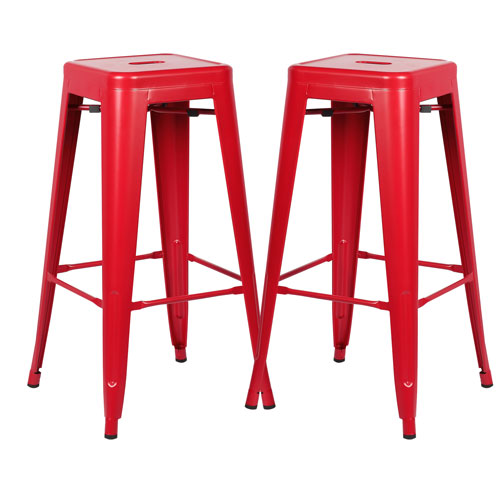 River Station Natural Industrial Kitchen Cart 251 First: 251 First River Station Red Bar Stool, Set Of Two Bel 126