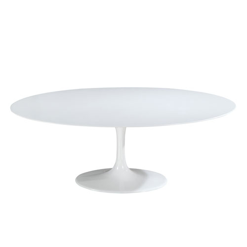 Nicollet White 78 In. Oval Fiberglass Dining Table