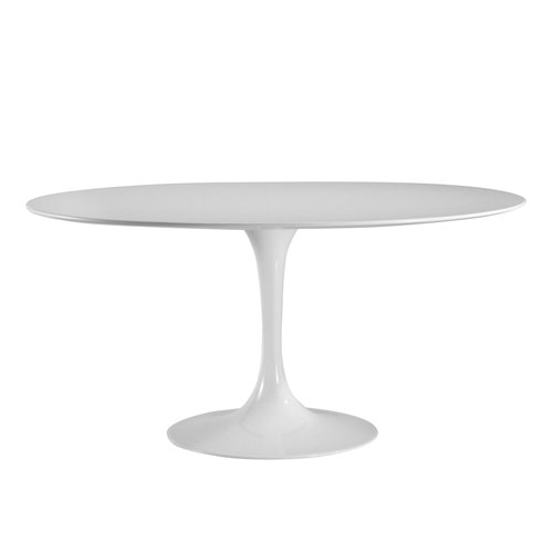 Nicollet White 60 In. Oval Dining Table