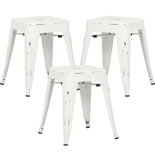 River Station Natural Industrial Kitchen Cart 251 First: 251 First River Station Distressed White Counter Stool