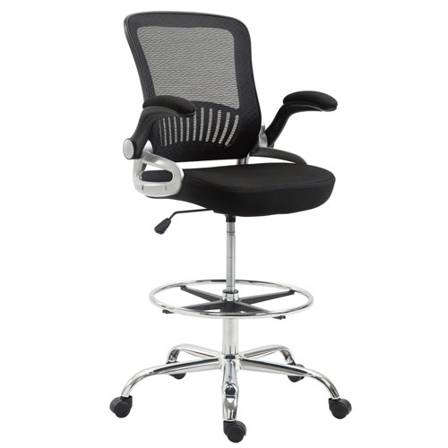 Loring Black Drafting Chair