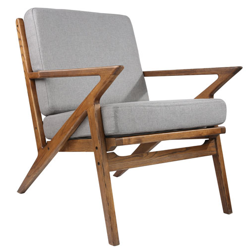 Uptown Gray Lounge Chair