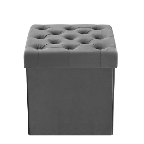 Incredible 251 First Cooper Gray Velvet Storage Ottoman Camellatalisay Diy Chair Ideas Camellatalisaycom