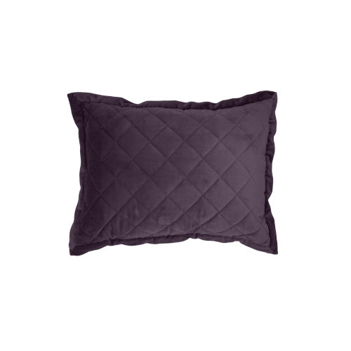 Velvet Diamond Amethyst 12 In. X 16 In. Quilted Throw Pillow
