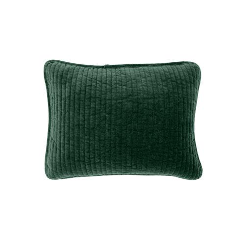 Stonewashed Velvet Emerald 12 In. X 16 In. Throw Pillow