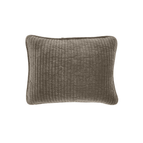Stonewashed Velvet Taupe 12 In. X 16 In. Throw Pillow