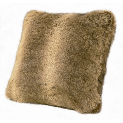 Wolf Brown 22 In. X 22 In. Throw Pillow