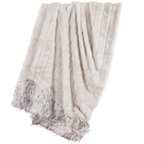 Snow Leopard White 50 In. X 80 In. Throw