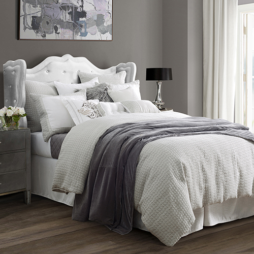 Wilshire Light Grey Super Queen Comforter Set