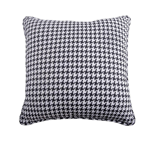 Hamilton Grey and White Houndstooth Euro Sham