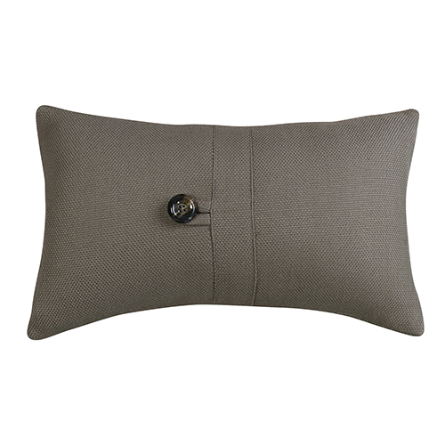 Piedmont Taupe Grey 10 x 17 In. Throw Pillow