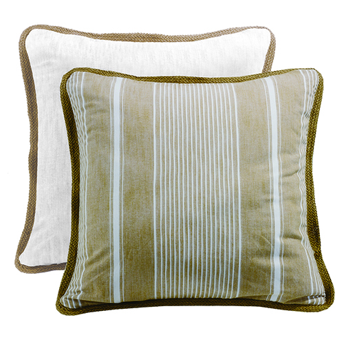 New Port White and Taupe Reversible Euro Sham