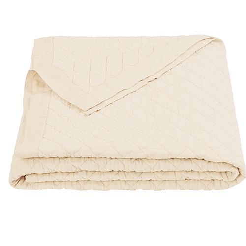 Linen Cream Diamond Pattern Full/Queen Quilt