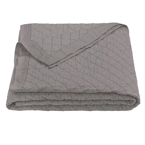 Linen Grey Diamond Pattern Full/Queen Quilt