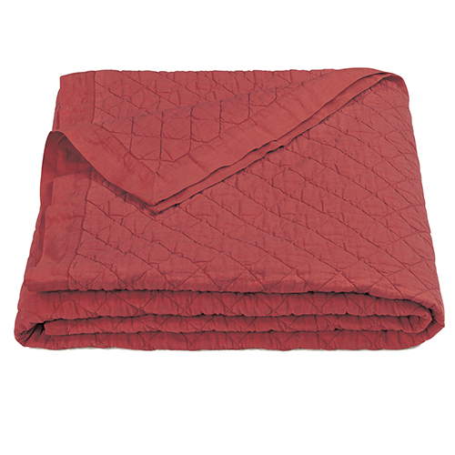 Linen Red Diamond Pattern Full/Queen Quilt