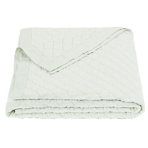 Linen Seafoam Diamond Pattern Full/Queen Quilt