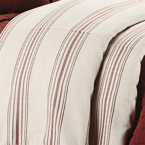 Prescott Red Stripe Super Queen Duvet
