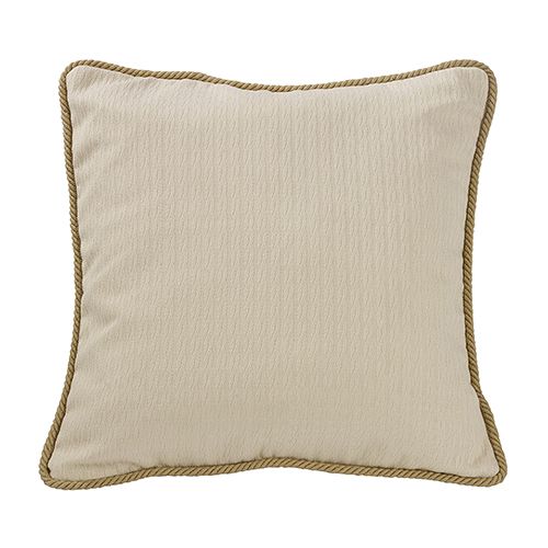 South Haven Cream Knitted Euro Sham with Rope Detail