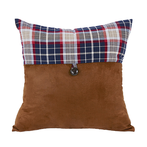 South Haven Blue Plaid 18 x 18 In. Envelope Throw Pillow