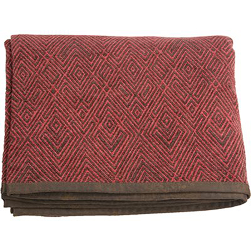 Wilderness Ridge Red and Brown Chenille Throw