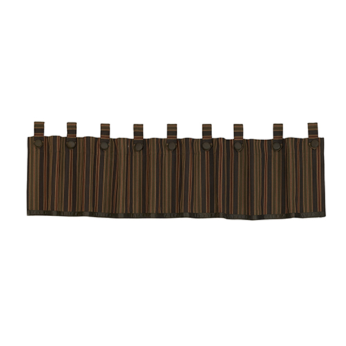 Wilderness Ridge Brown, Tan and Red 84 x 18-Inch Valance