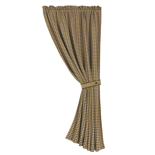 Crestwood Houndstooth Tan 84 x 48-Inch Curtain Single Panel