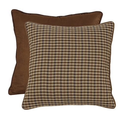 Crestwood Houndstooth and Brown Reversable Euro Sham