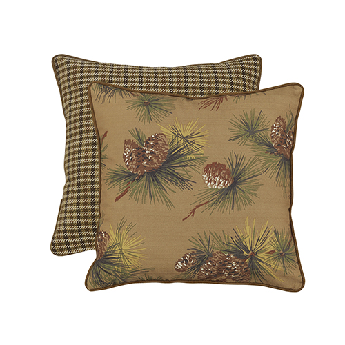 Crestwood Pinecone and Hounstooth Reversable Euro Sham
