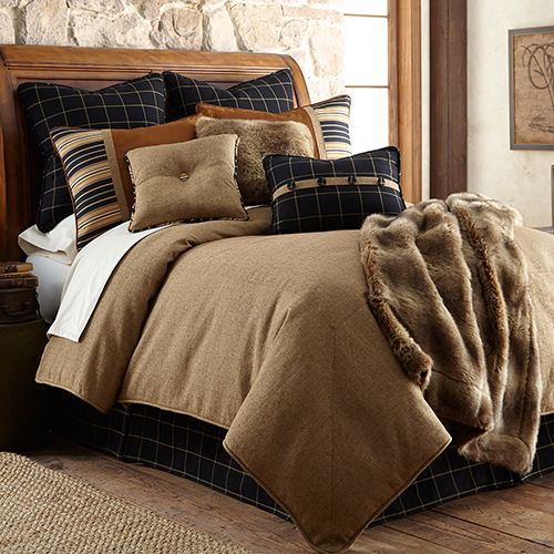 Ashbury Tan Super Queen Five-Piece Comforter Set
