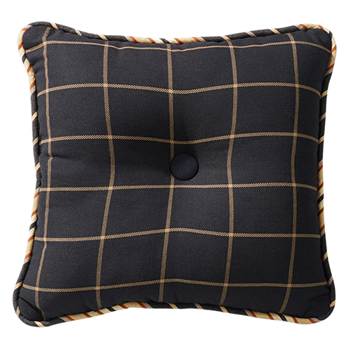 Ashbury Black and Tan 18 x 18 In. Tufted Throw Pillow