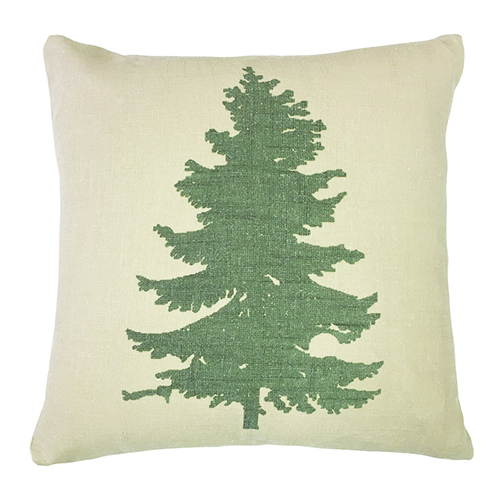 Green Pine Tree 18 x 18 In. Throw Pillow