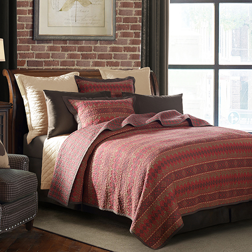Rushmore Red Two-Piece Twin Quilt Set