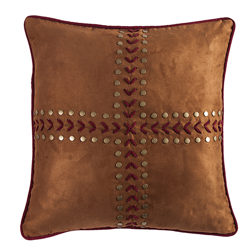 Solace Tan and Burgundy Reversible Euro Sham