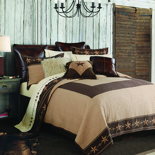Star Ranch Tan and Brown Two-Piece Twin Quilt Set