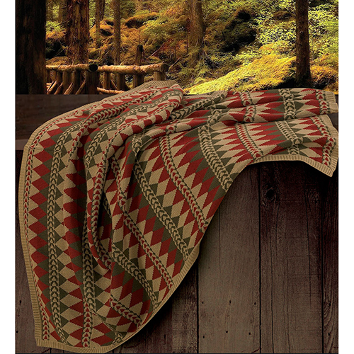 Wilderness Ridge Multicolor Knitted Throw