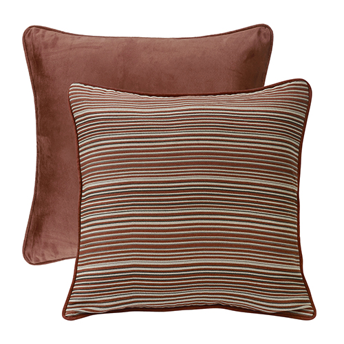 Silverado Stripe and Brick Reversible Euro Sham