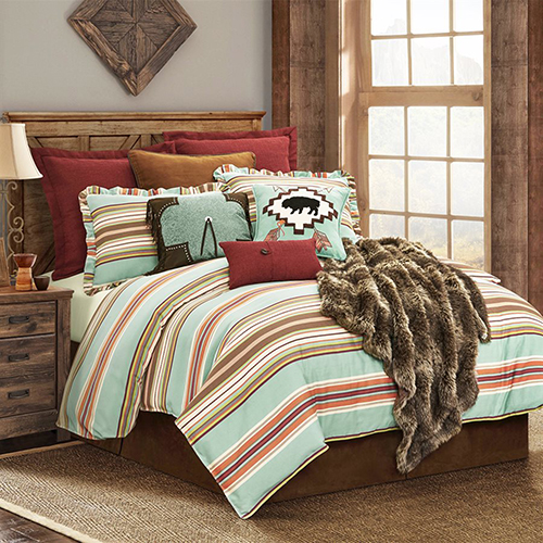 Serape Multicolor Full Three-Piece Comforter Set