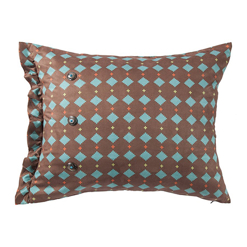 Serape Turquoise Diamond 16 x 26 In. Throw Pillow
