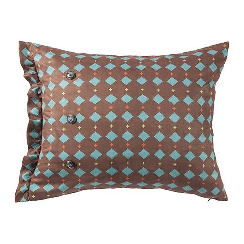 Serape Turquoise Diamond 16 x 26 In. Throw Pillow