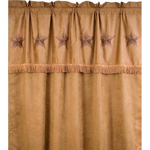 Luxury Star Tan 84 x 60-Inch Curtain Single Panel