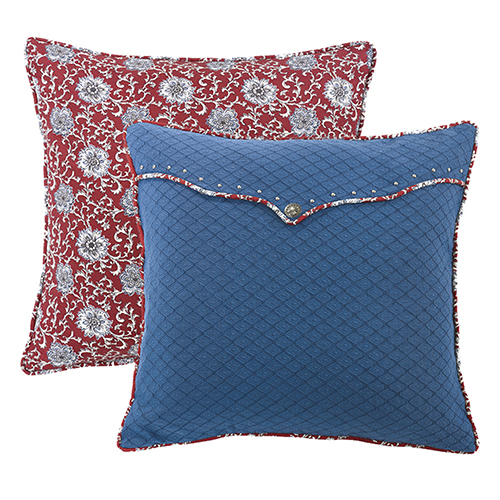 Bandera Blue and Red Euro Sham