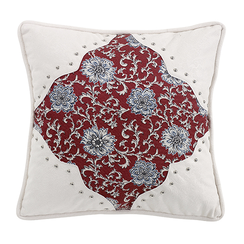 Bandera Floral 18 x 18 In. Throw Pillow with Scalloped Corners